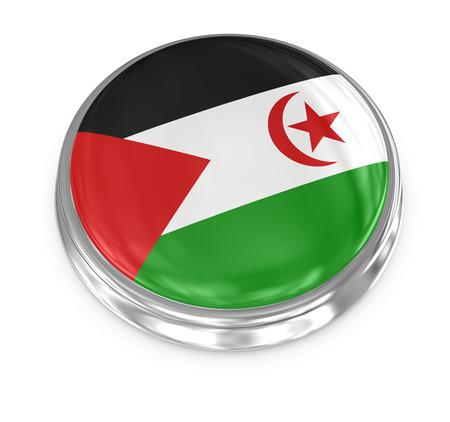 computer generated image: Sahrawi Arab Democratic Republic badge, computer generated image. Stock Photo