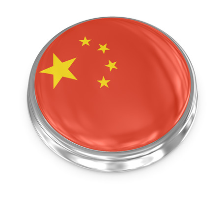 computer generated image: China badge , computer generated image. 3d render.