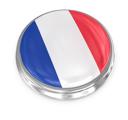 France badge , computer generated image. 3d render.