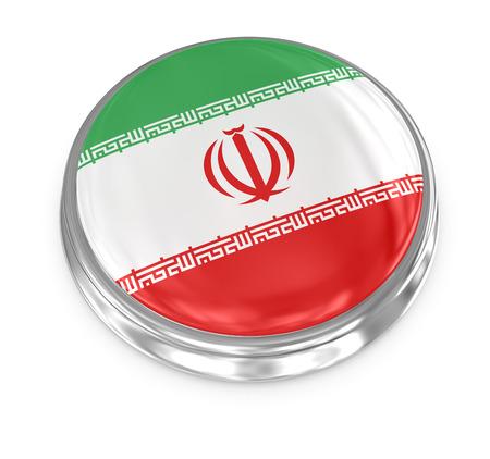 Iran badge , computer generated image. 3d render. photo