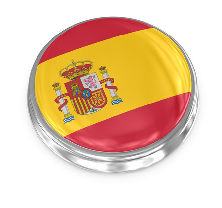 computer generated image: Spain badge , computer generated image. 3d render. Stock Photo