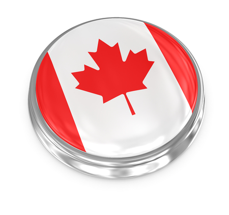 the computer generated: Canada badge , computer generated image. 3d render.