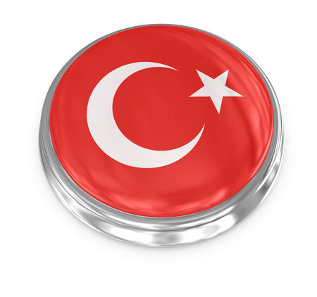 computer generated image: Turchia distintivo, immagini generate al computer. Rendering 3D.