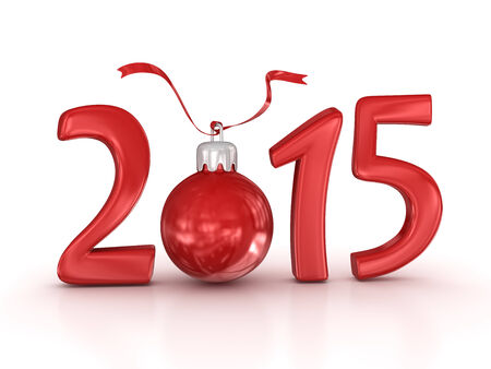 computer generated image: New year 2015, computer generated image. 3d render.