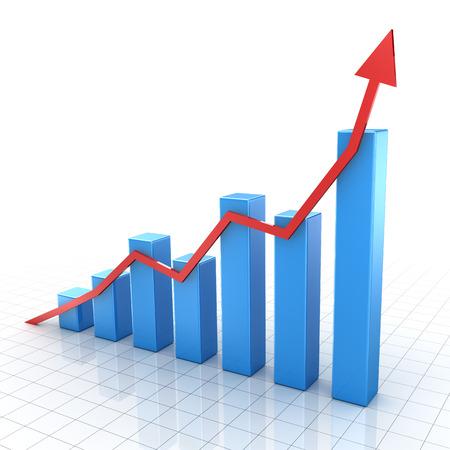 バー グラフ、コンピューター生成イメージです。3 d レンダリングされた画像。