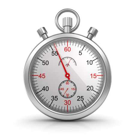 computer generated image: Stopwatch , computer generated image. 3d render.