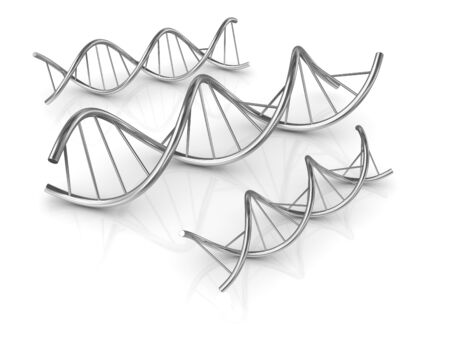 clone: Dna Shape , computer generated image. 3d rendered image.