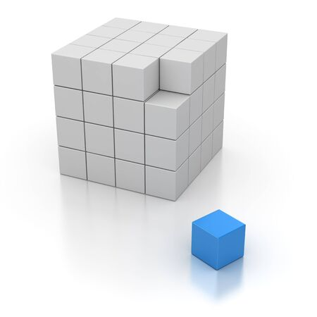 computer generated image: Final Cube , computer generated image. 3d rendered image. Stock Photo