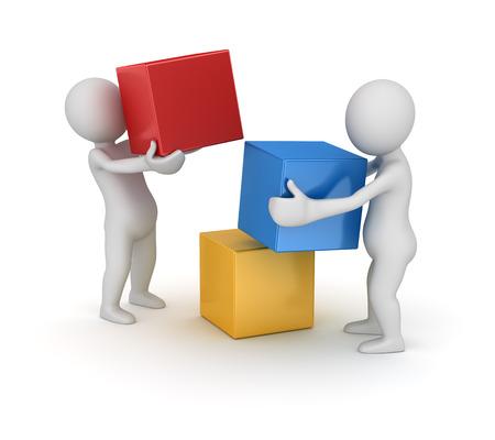 Teamwork-Konzept, Computer generierte Bild. 3D-gerenderten Bild.