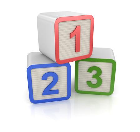 번호 123, 컴퓨터 생성 이미지입니다. 3 차원 렌더링 된 이미지입니다.