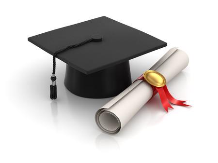Imagen Graduación, generado por ordenador. Imagen 3D. Foto de archivo - 37147665
