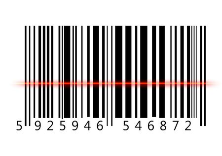 Bar Code , computer generated image. Rendered image.
