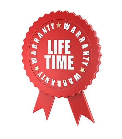 lifetime: Lifetime warranty , computer generated image. 3d rendered image. Stock Photo