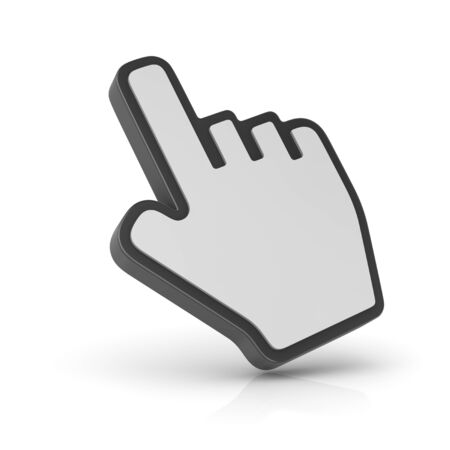 thumbs: Hand cursor , computer generated image. 3d rendered image. Stock Photo