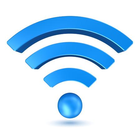 iconos: Se�al Wifi, imagen generada por ordenador. Imagen 3D.