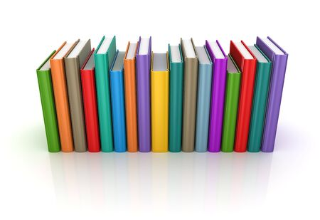 Colorful book. 3d render and computer generated image. isolated on white.