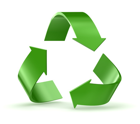 Recycle symbol. 3d render and computer generated image.