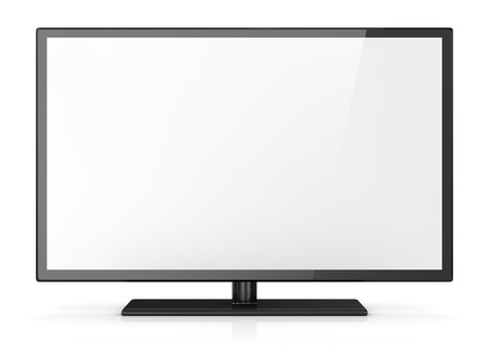 Empty screen hd tv. 3d render and computer generated image.