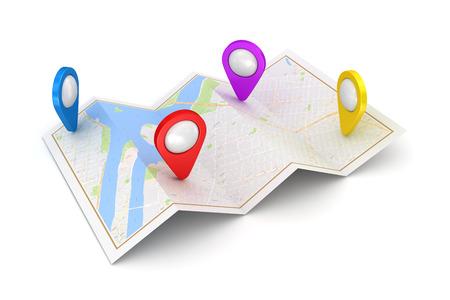 GPS 衛星ナビゲーションの概念。3 d のレンダリングおよびコンピューター生成イメージ。