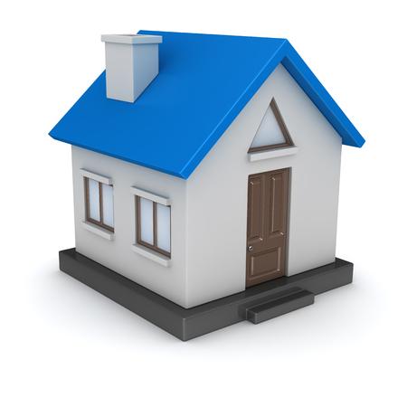 작은 집의 3d 렌더링입니다. 3d 렌더링 및 컴퓨터 생성 이미지입니다.