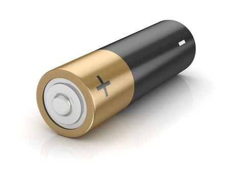 격리 된 alcaline 배터리입니다. 3d 렌더링 및 컴퓨터 생성 이미지입니다.
