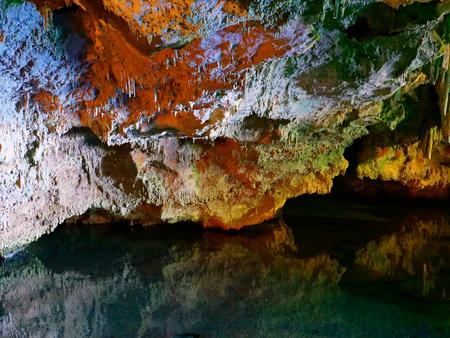 Neptunes grotto (Grotta di Nettuno), Capo Caccia, Alghero, Sardinia. Stockfoto