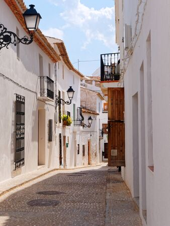 Beautiful old town in Altea. Costa Blanca, Spain.