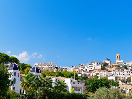 panorama of the city of Altea. A beautiful old town on the hill.
