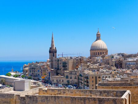 View of the old city of Valletta. Malta.