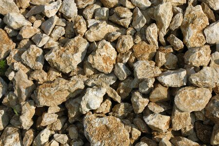 carboniferous: Carboniferous limestones background - stack of stones Stock Photo