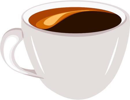 coffee crop: Cup of espresso coffee  Illustration