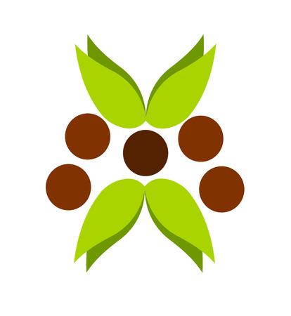 Green emblem, graphic design of nature Stock Vector - 7626343