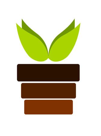 germination: Bote con el emblema de la planta
