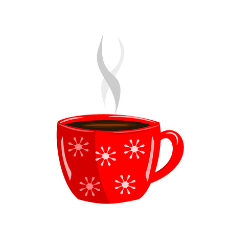 Energizing red cup of hot coffee Stock Vector - 7788281