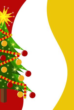 クリスマスの背景に飾られたクリスマス ツリー、copyspace