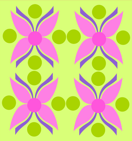 Pink flower texture over green background Stock Vector - 7953178