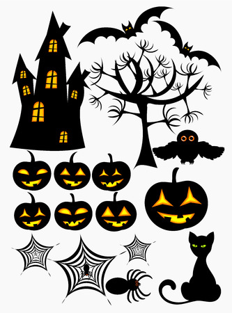 Set of halloween design elements Stock Vector - 8069083