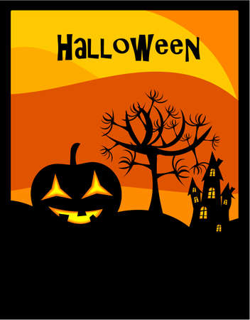 Halloween background with lantern Vector