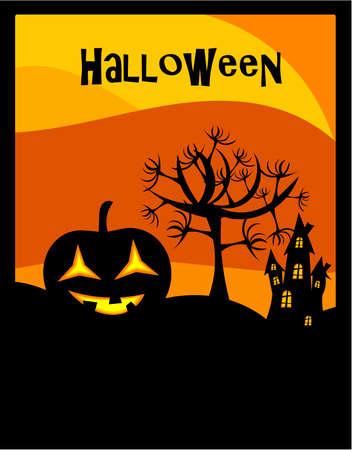 Halloween sur fond lanterne