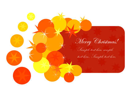 Christmas card for greetings illustration Vector