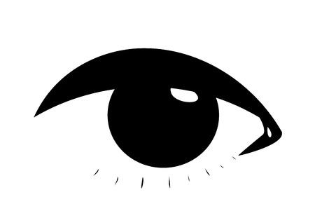 dark eyes: Symbolic woman eye Illustration