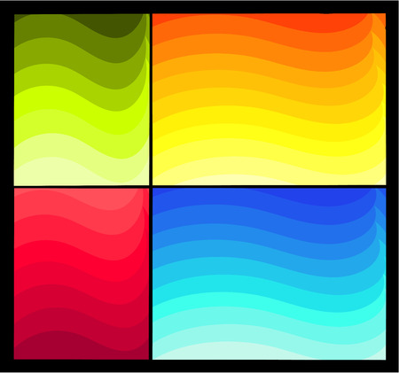Four colorful abstract   backgrounds. Wave gradient Stock Vector - 8329514