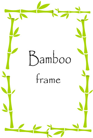 lucky plant: Lucky bamboo frame background Illustration