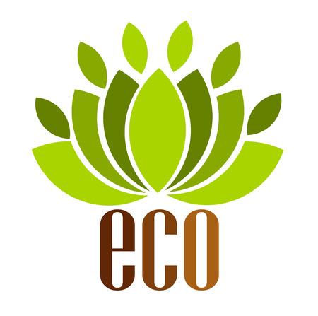 Ecologische embleem. illustratie