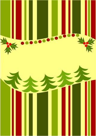 Striped Christmas card background Vector