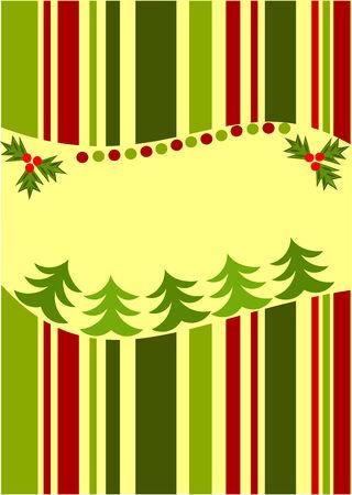 ilex: Striped Christmas card background