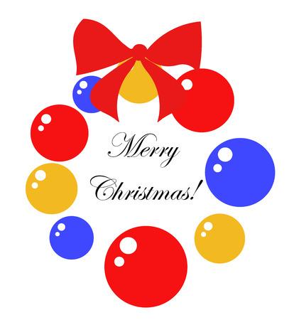 Symbolic Christmas wreath illustration Vector
