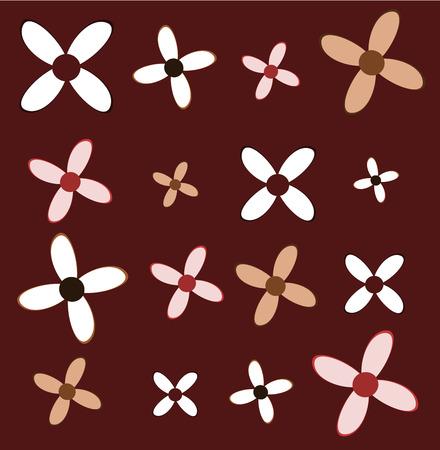 claret: Cute flower texture. Vector illustration