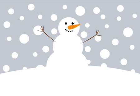 Happy Christmas snowman  illustration Vector