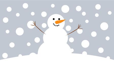 Happy Christmas snowman  illustration Vector